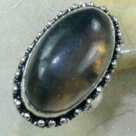 טבעת בשיבוץ אבן פלואורייט כסף 925 מידה: 7.75