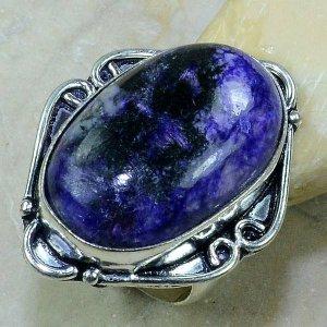 טבעת בשיבוץ אבן צ'רוייט כסף 925 מידה: 9.5