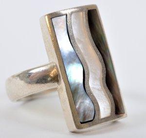 טבעת בשיבוץ אם הפנינה כסף 925