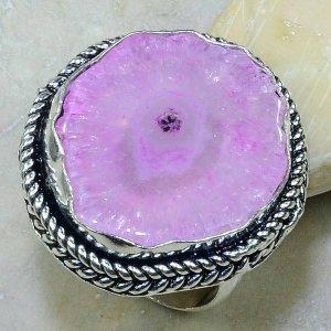 טבעת בשיבוץ אבן אגט ורוד כסף 925