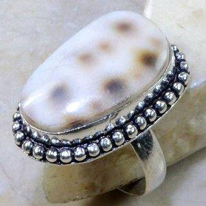 טבעת בשיבוץ צדף כסף 925 מידה: 9.25