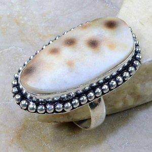 טבעת בשיבוץ צדף כסף 925 מידה: 8