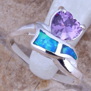 טבעת בשיבוץ אופל ואמטיסט כסף 925