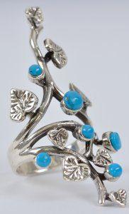 טבעת בשיבוץ טורקיז כסף 925