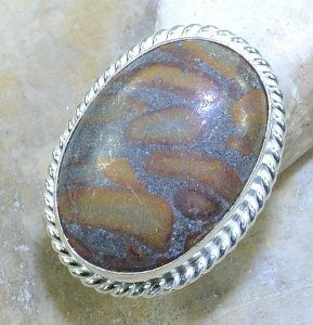 טבעת משובצת ג'סםר אוטומן כסף 925 מידה: 6