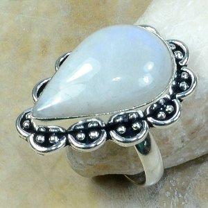 טבעת משובצת מונסטון כסף 925 מידה: 10.5