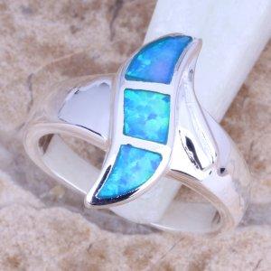 טבעת משובצת אבני אופל כסף 925