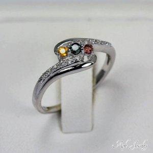 טבעת משובצת אבני ספיר איכותי כסף 925