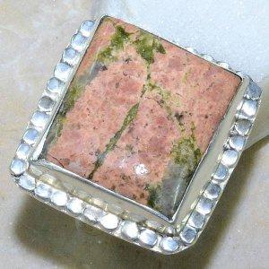 טבעת משובצת באבן יוניקיט כסף 925 מידה: 7.25