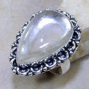טבעת משובצת רוטילייד קוורץ כסף 925 מידה: 6.75