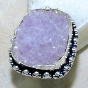 טבעת משובצת מושבת אמטיסט כסף 925 מידה: 6