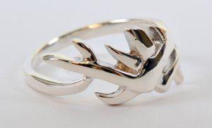 טבעת עיצוב צעיר כסף 925