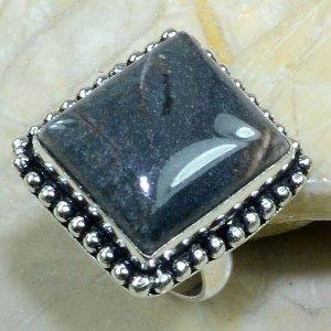 טבעת בשיבוץ אבן ג'ספר ירוק כסף 925 מידה: 8
