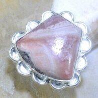 טבעת משובצת רודונייט כסף 925 מידה: 6