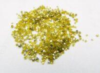 אבן חן: יהלום צהוב גלם לשיבוץ גודל מזערי