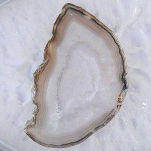 פרוסה מאבן אגט טבעי צבעי אדמה