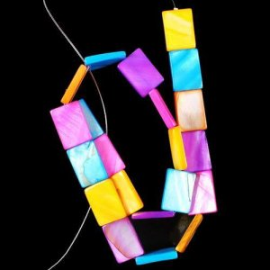 תכשיטנות: שרשרת צדף צבעוני