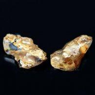 אבן חן: 2 אופל צהוב גלם לליטוש גווני צהוב חום 6 קרט