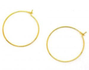 תכשיטנות: 5 זוגות עגילים מוזהב חישוק