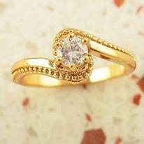 טבעת גולדפילד משובצת קריסטל