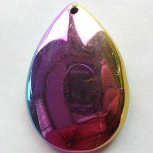 תליון אגט טיטניום צבעי סגול מיוחד