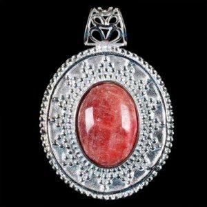 תליון ג'ייד אדום מוכסף עיצוב מיוחד