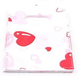 תכשיטנות: 50 שקיות אריזה ידית עיצוב לבבות אדום
