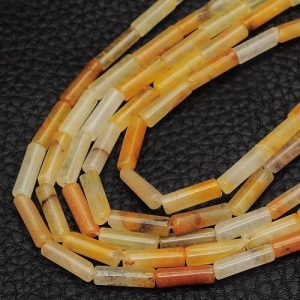 תכשיטנות: שרשרת מאבני ג'ייד צהבהב כתום