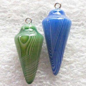 מטוטלת מאבן אגט אוניקס גוון כחול או ירוק