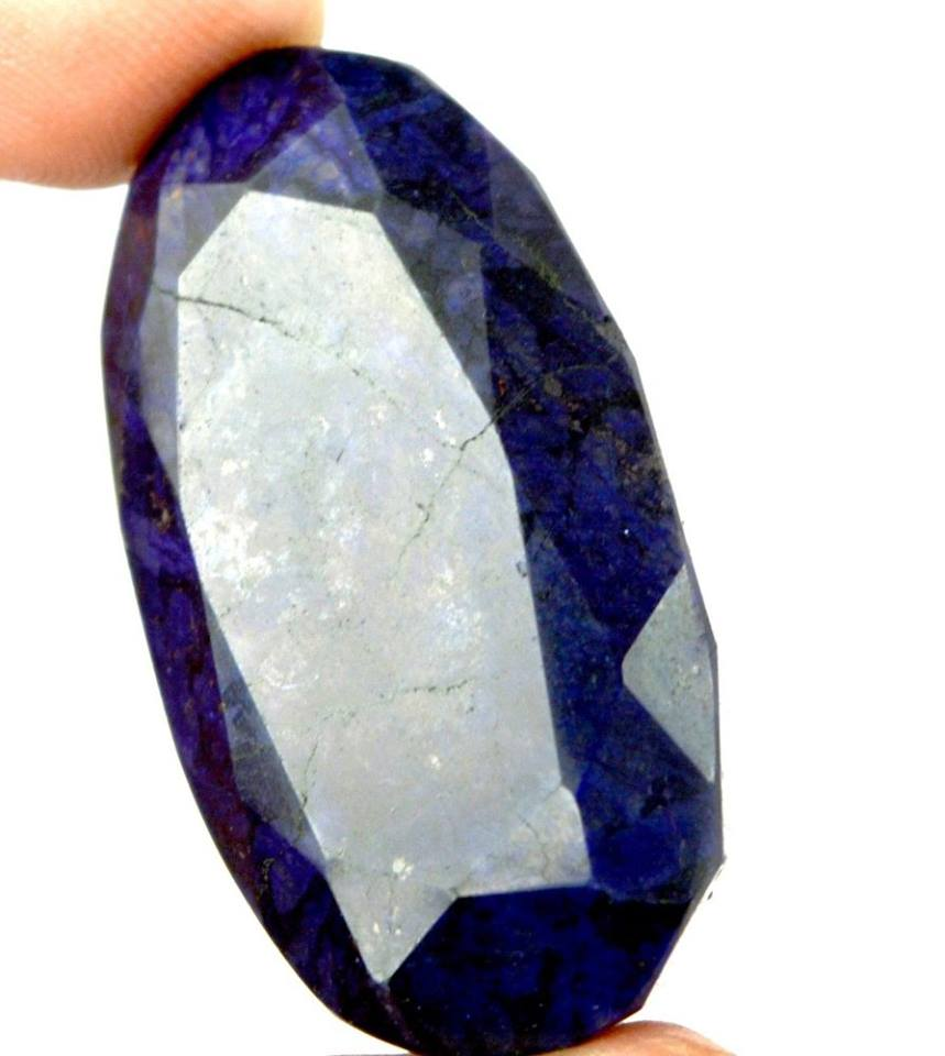 אבן חן: ספיר כחול מלוטש לשיבוץ (אפריקה) 95 קרט