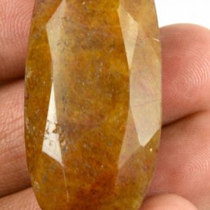 אבן חן: ספיר צהוב מלוטש לשיבוץ (מדגסקר) 95 קרט