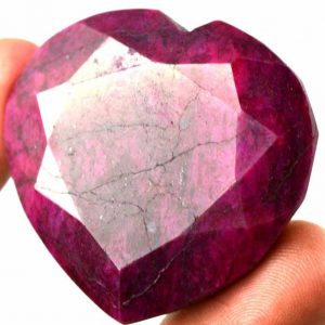 אבן חן רובי מלוטש 202 קרט עיצוב לב