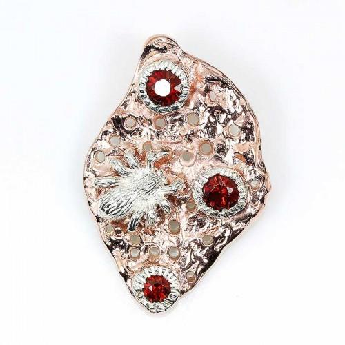 תליון עבודת יד כסף 925 וציפוי זהב בשיבוץ אבני גרנט (אפריקה) עיצוב עכביש