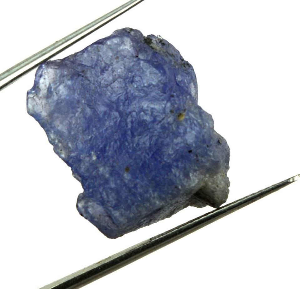 אבן חן: טנזנייט גלם משובח (טנזניה) תעודה 24.65 קרט
