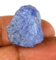 אבן חן: טנזנייט גלם לליטוש (טנזניה) תעודה 25.10 קרט