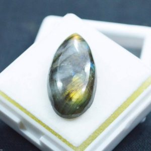 אבן חן: לברדורייט מלוטש לשיבוץ (ברזיל) תעודה 17.90 קרט