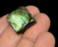 """אבן חן: לברדורייט מלוטש לשיבוץ (מדגסקר) 25.30 קרט מידות: 7*17*19 מ""""מ"""