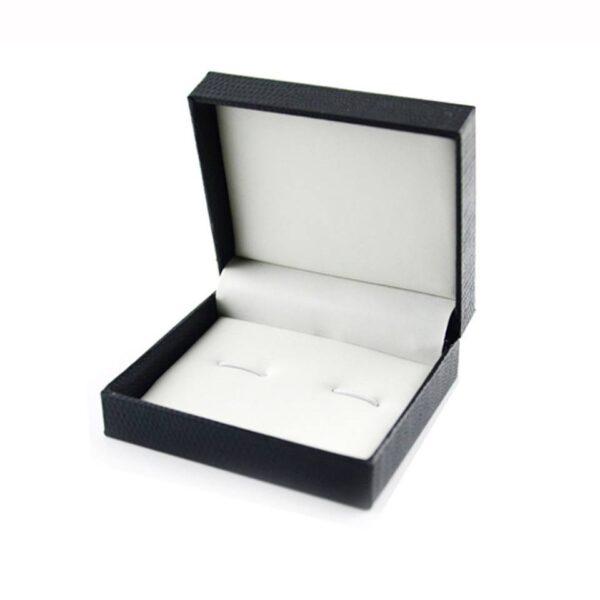 """תכשיטנות: קופסת תכשיטים מהודרת שחורה מידות: 7*8 ס""""מ"""