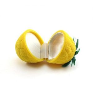 תכשיטנות: קופסת אריזה לטבעת דמוי לימון