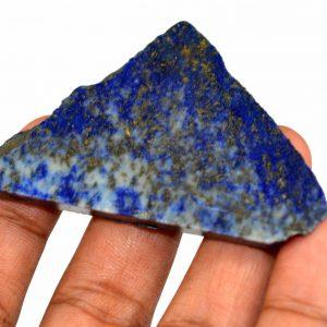 """אבן חן: לאפיס לג'ולי גלם לליטוש (אפגניסטן) 167 קרט מידות: 6*44*68 מ""""מ"""
