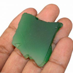 """אבן חן: אוניקס ירוק לליטוש (ברזיל) 85 קרט מידות: 6*35*38 מ""""מ"""