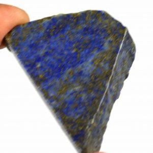 """אבן חן: לאפיס לג'ולי גלם לליטוש (אפגניסטן) 102 קרט מידות: 7*33*47 מ""""מ"""