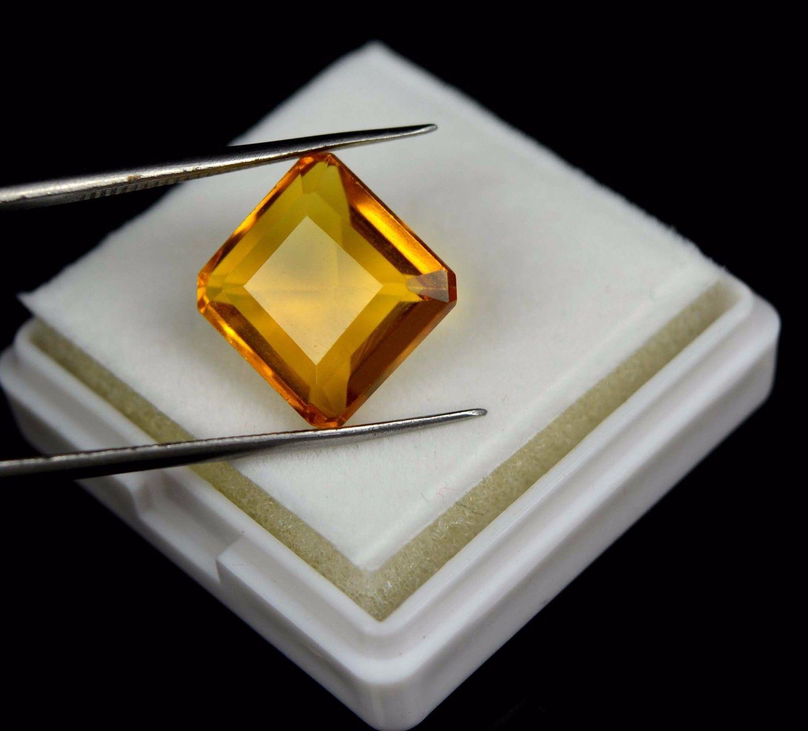 """אבן חן: סיטרין מלוטש לשיבוץ (ברזיל) 10.55 קרט מידות: 7*12*13 מ""""מ"""