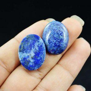 אבן חן: 2 יחידות לאפיס לג'ולי מלוטש לשיבוץ ( אפגניסטן) 38.65 קרט עיצוב אובלי