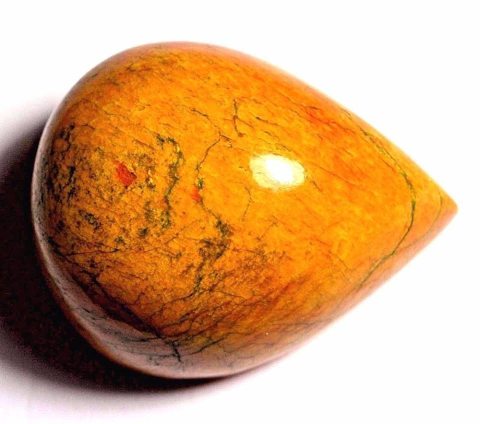 אבן חן: ספיר צהוב מלוטש לשיבוץ (אפגניסטן) תעודה 435 קרט