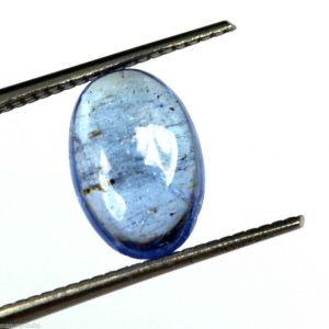 אבן חן: טנזנייט מלוטש לשיבוץ (טנזניה) תעודה 1.40 קרט עיצוב אובלי ליטוש קבושון