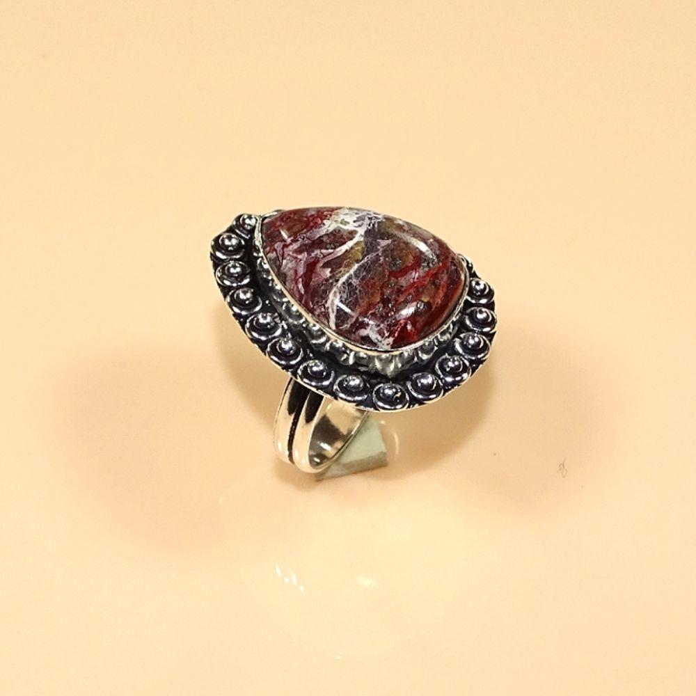 טבעת בשיבוץ קרייזי ליס אגט כסף 925 מידה 9