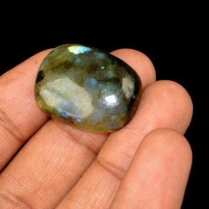 אבן חן: לברדורייט מלוטש לשיבוץ (מדגסקר) 33.45 קרט