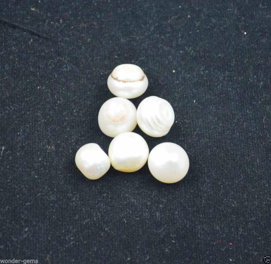 אבן חן: 1 יחידה פנינה לבנה (אוסטרליה) 8.5 קרט