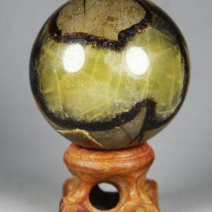 קלציט ספקטרום כדור ומעמד עץ משקל: 173 גרם